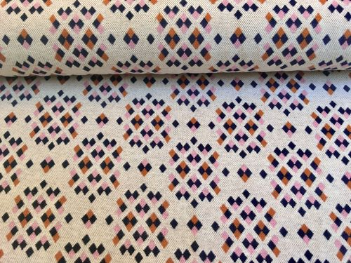 Jacquard Jersey Albstoffe Bliss and Sparkle rosé